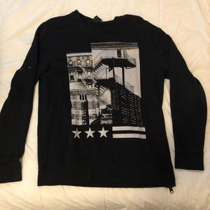 Black and White H&M Graphic Sweatshirt